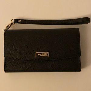 Kate Spade New York Black Saffiano Wristlet/wallet